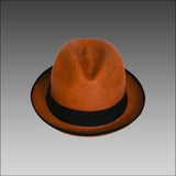 Tumia Orange Trilby Panama HAt