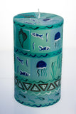 Hand-painted Pillar Candle (8 x 15cm)