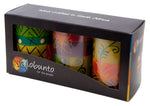Hand-painted Pillar Candles (Boxed Gift Set of 3)