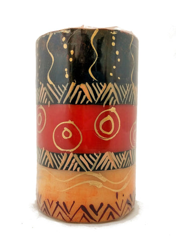 Hand-painted Boxed Pillar Candle (7 x 11cm)