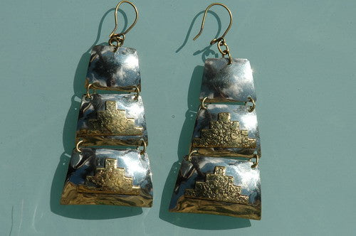 Chilean Brass Earrings