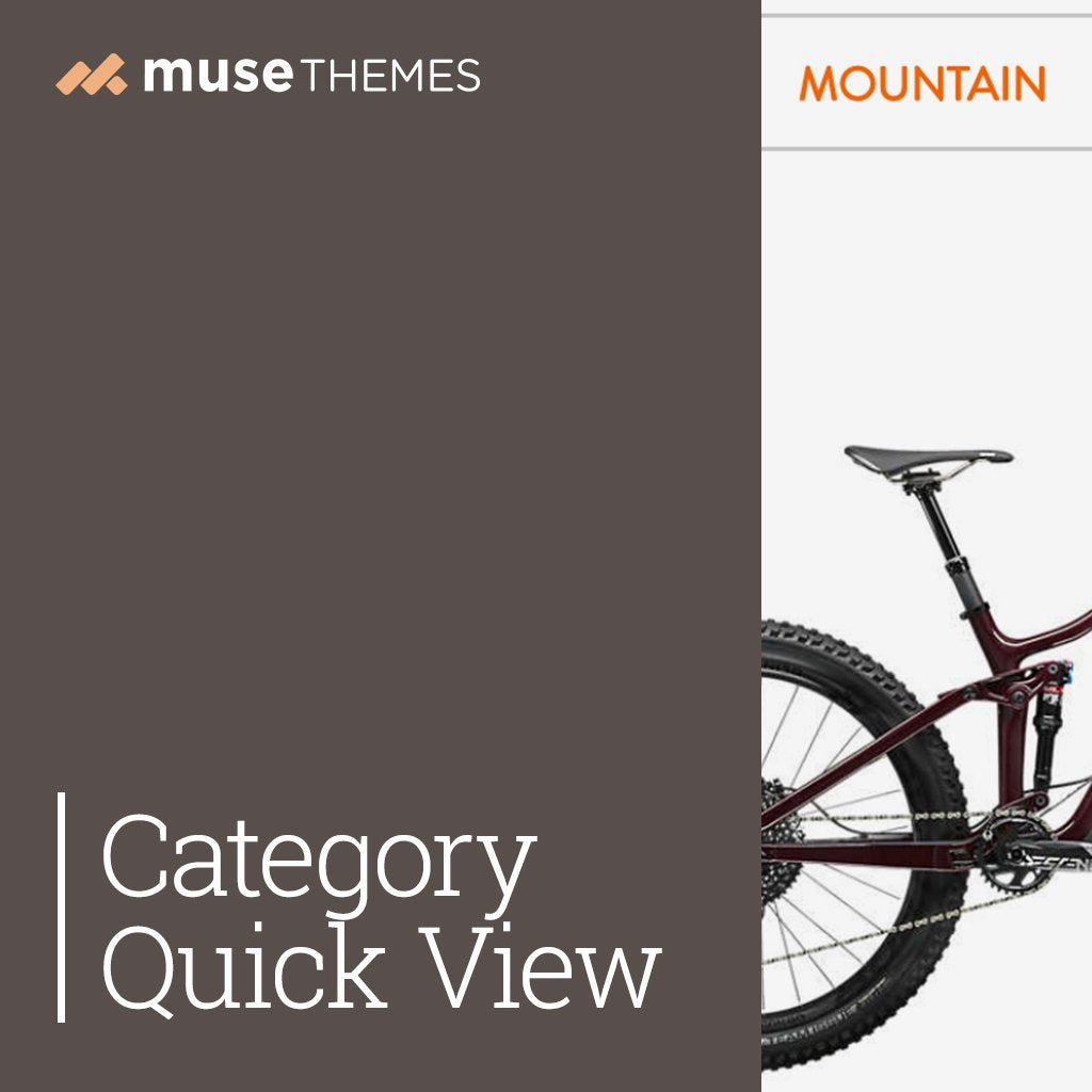 Category Quick View Adobe Muse Widget