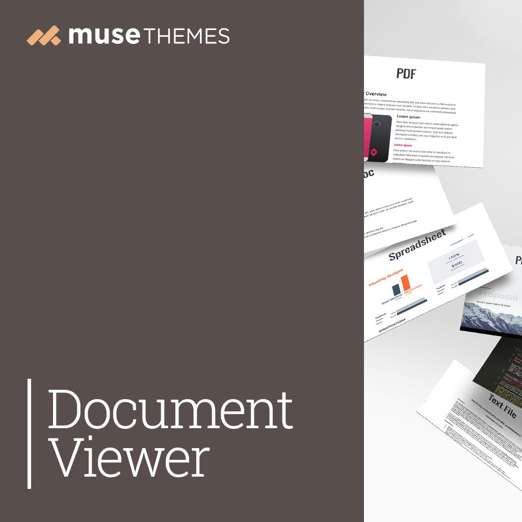 Document Viewer Adobe Muse Widget