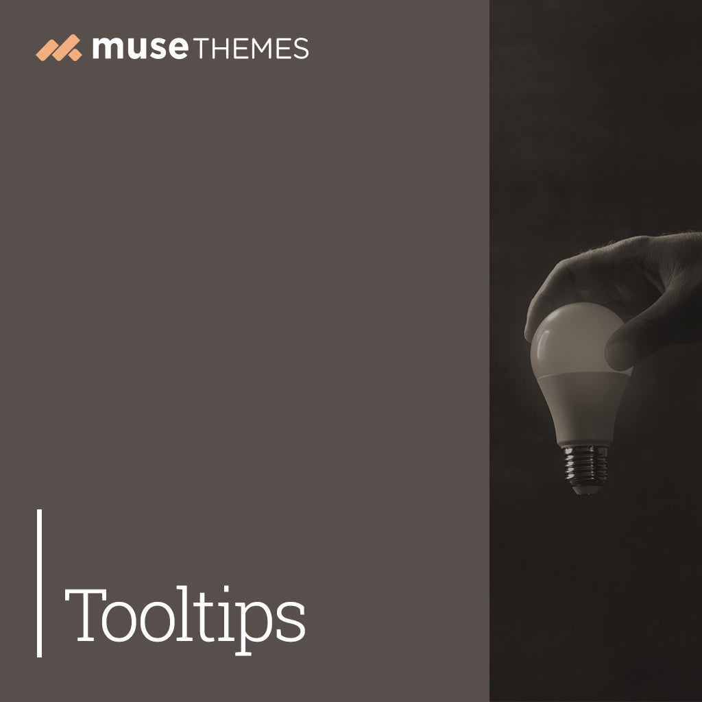 Tooltips Adobe Muse Widget