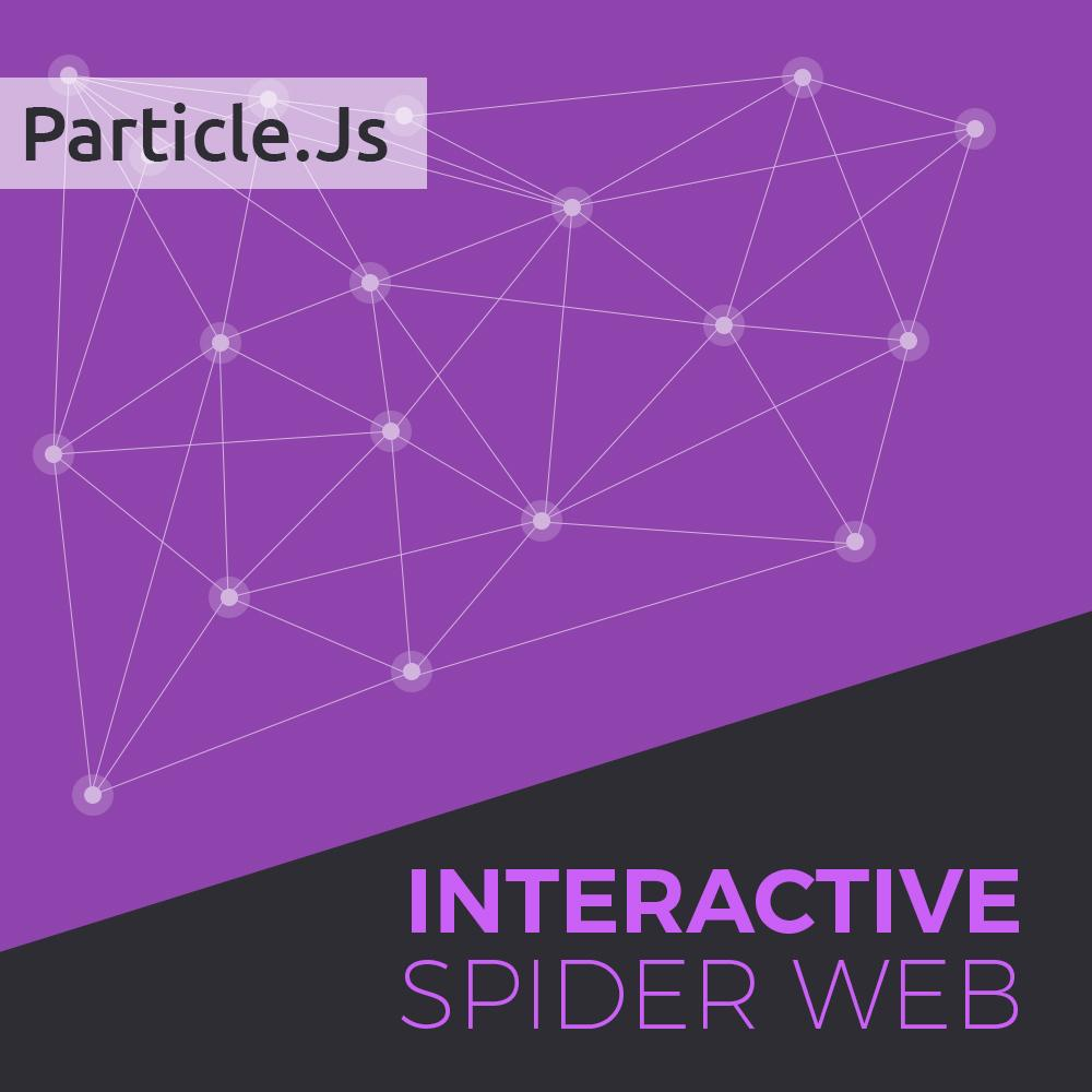 Spider web widget with Particle.js for Muse
