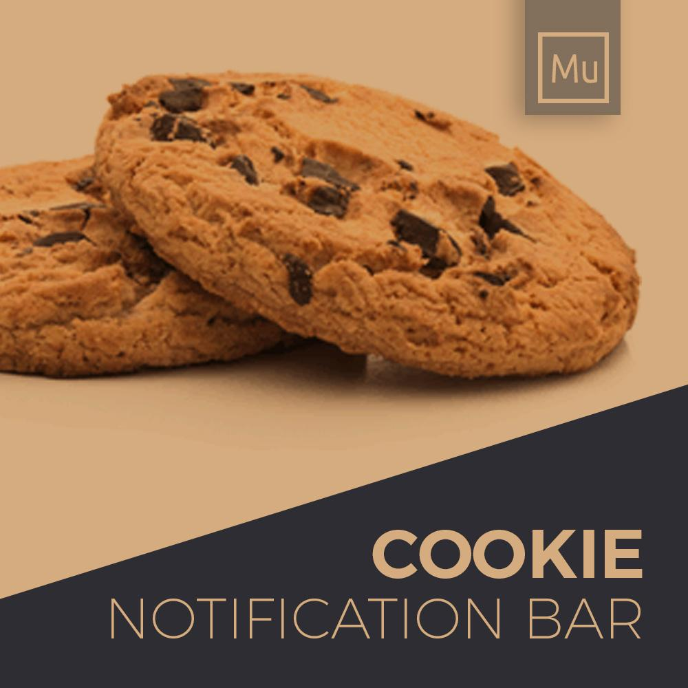 Cookie notification bar for adobe muse website