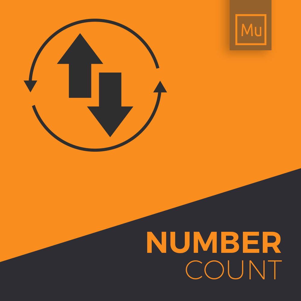 number count up widget for muse