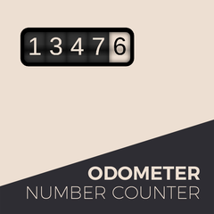 Odometer number counter widget for adobe muse