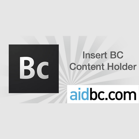 Insert BC Content Holder