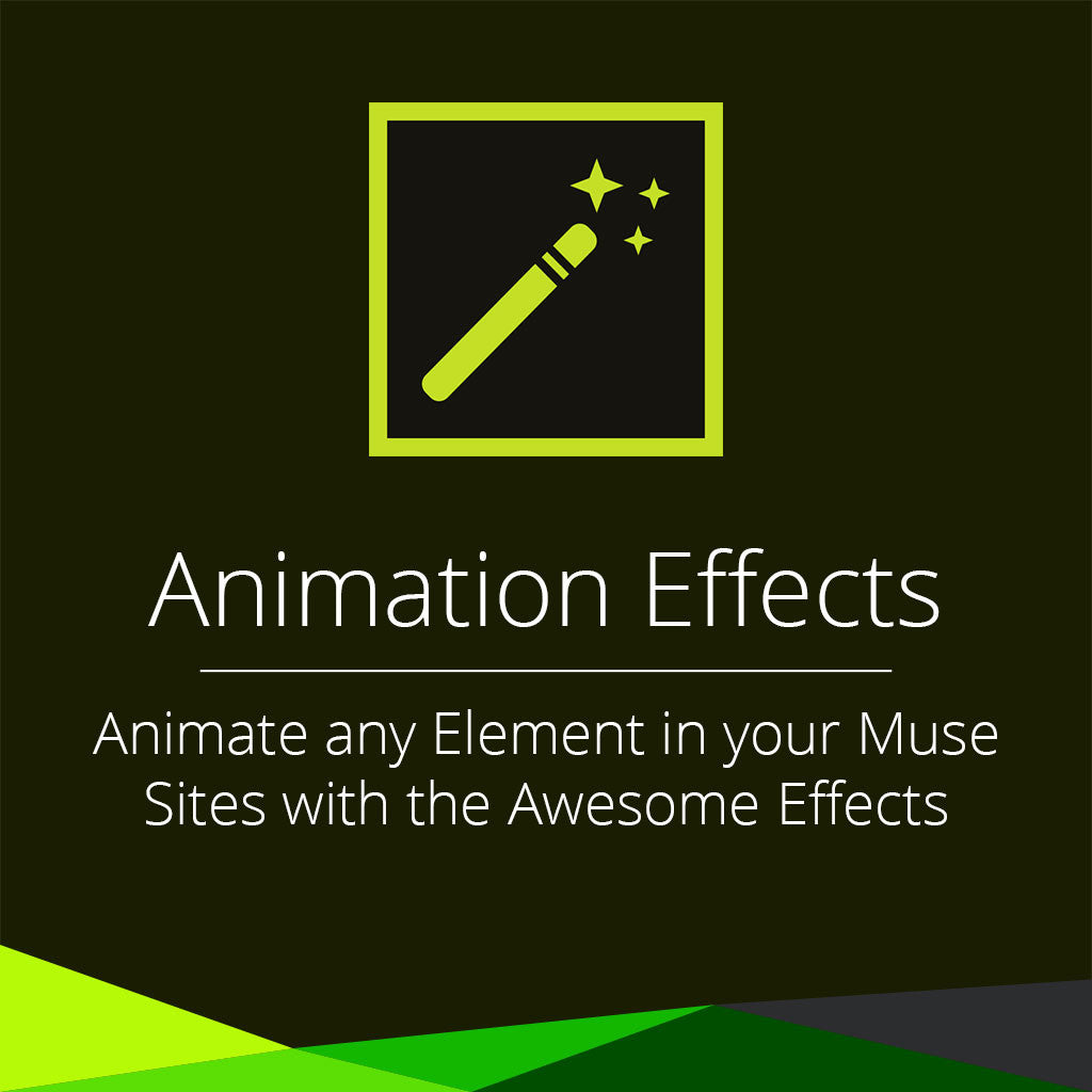 animation effects adobe muse widget