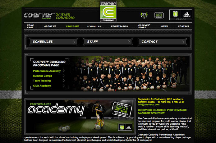 Coerver Coaching BC, Canada