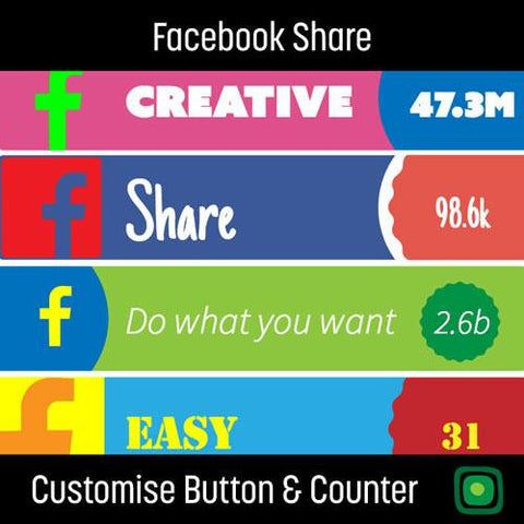 Facebook Share button & counter