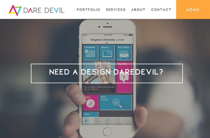 Daredevil Creative Website, United Kingdom