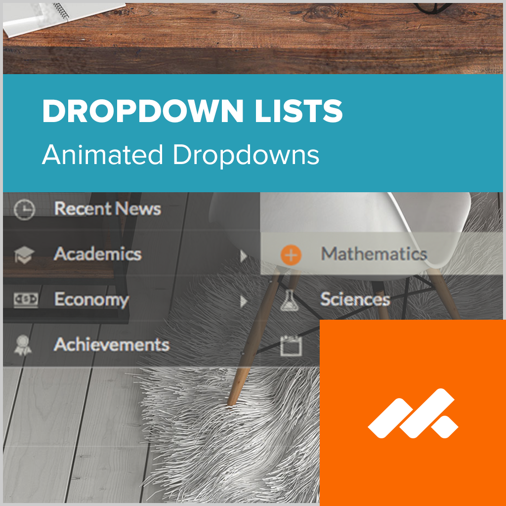 Dropdown Lists Adobe Muse Widget