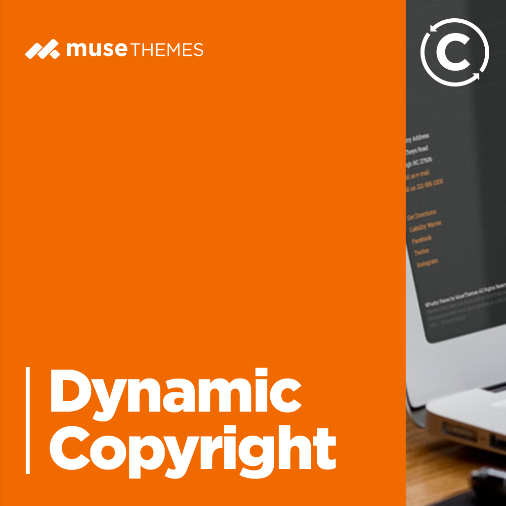 Dynamic Copyright Adobe Muse Widget