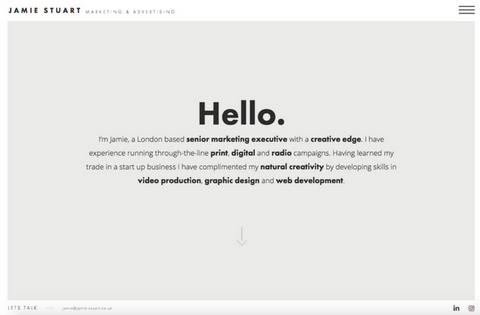 Jamie Stuart: Personal Website, United Kingdom