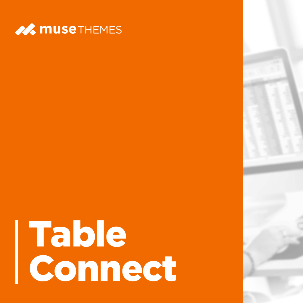 Table Connect Adobe Muse Widget