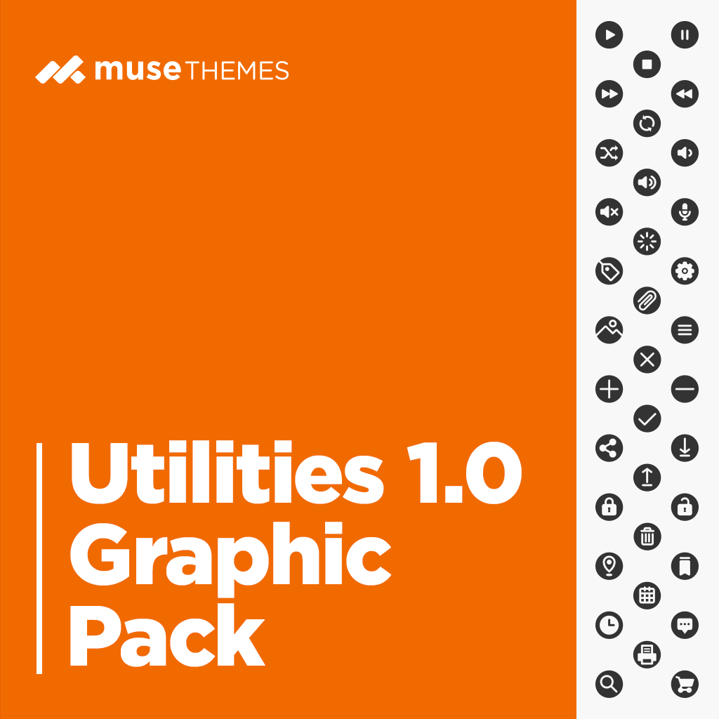 Utility Graphic Pack Adobe Muse Widget