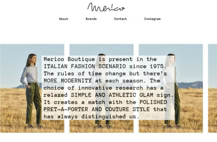 Merico Boutique, Italy