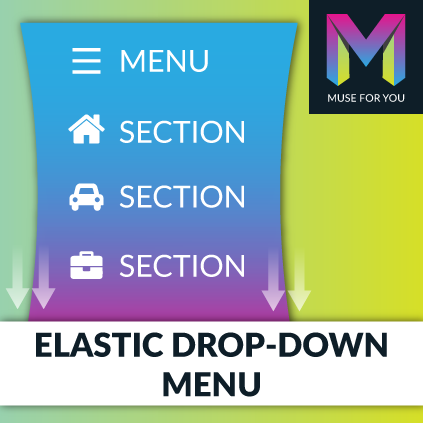 Elastic Drop-down Menu