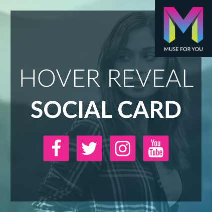 Hover Reveal Social Card