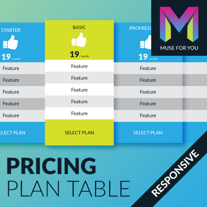 Responsive Pricing Plan Table
