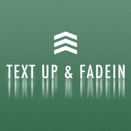Animate Text Up & FadeIn