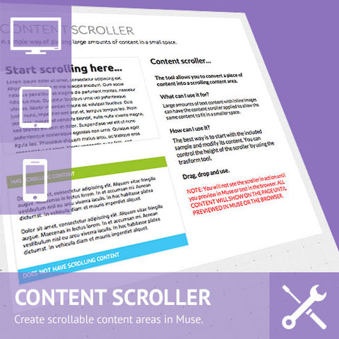 Content Scrollers