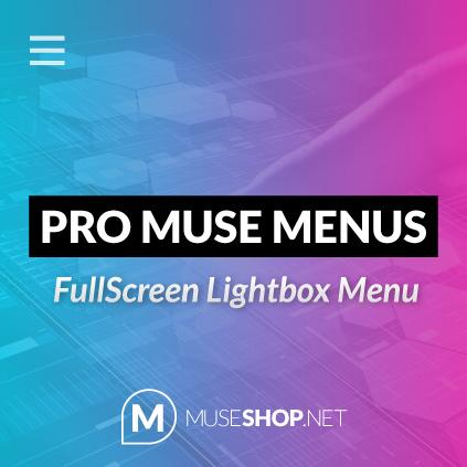 Fullscreen Lightbox Muse Menu PRO