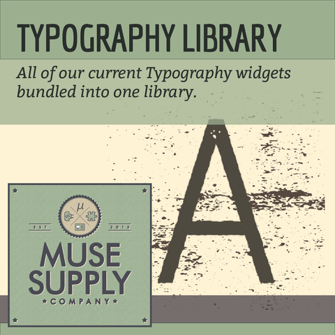 LIBRARY: Typography Widgets