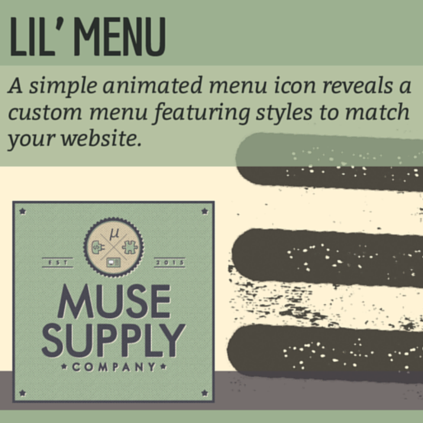 Lil Menu widget for Adobe Muse