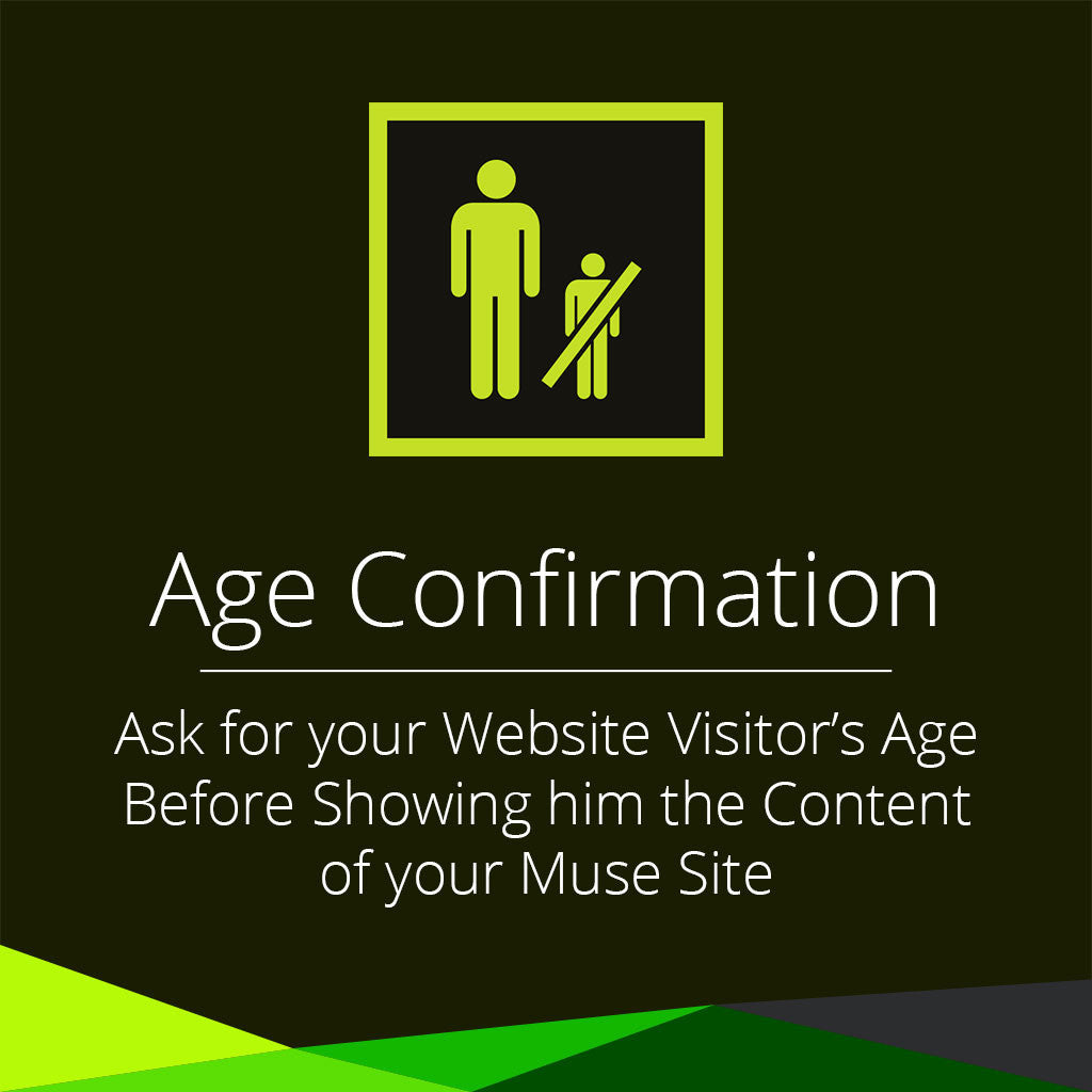 Age confirmation adobe muse widget