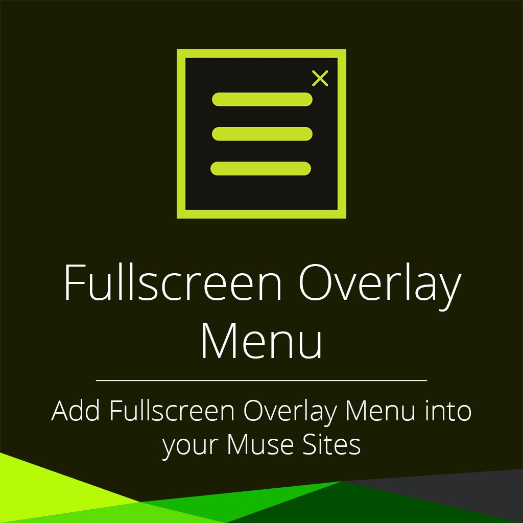 Fullscreen Overlay Menu adobe muse widget