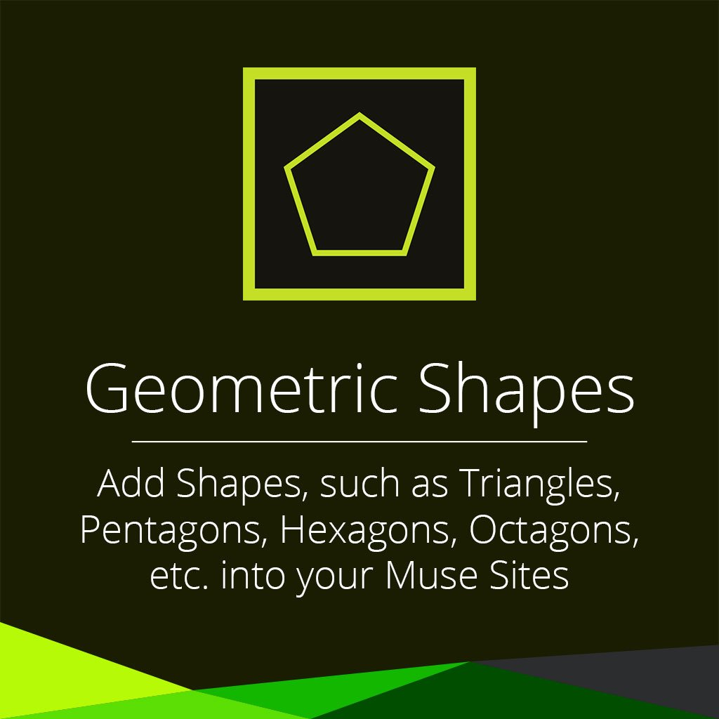 Geometric shapes adobe muse widget