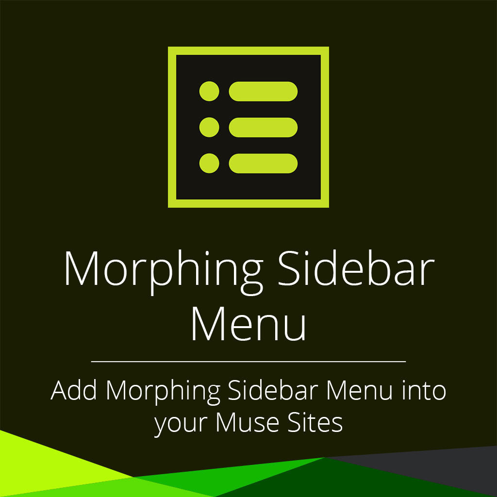 Morphing sidebar menu adobe muse widget