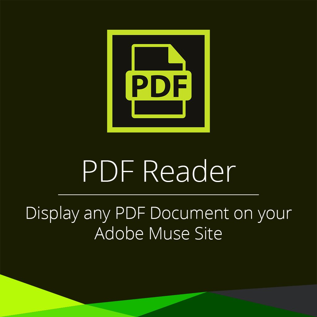 PDF reader adobe muse widget