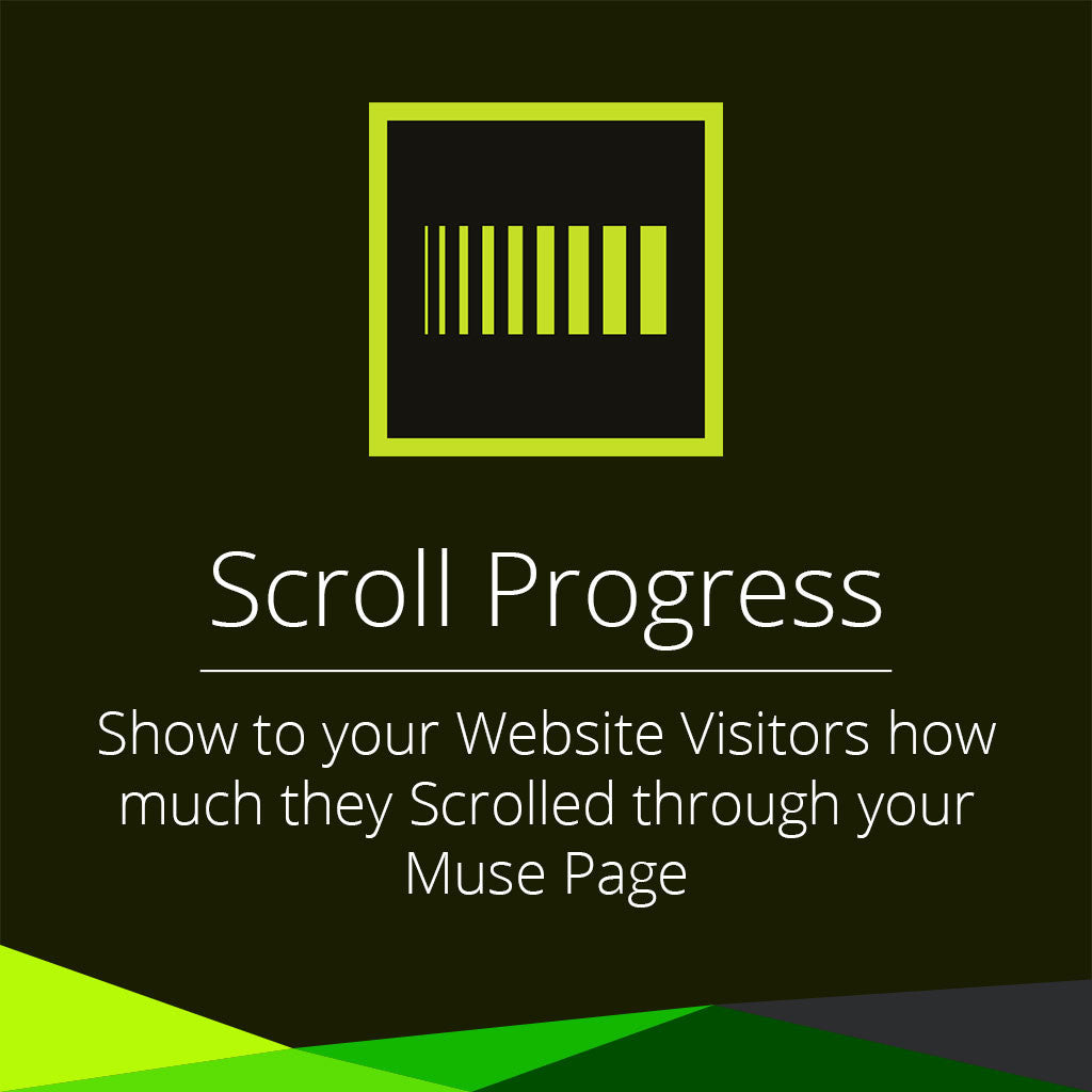 Scroll progress adobe muse widget