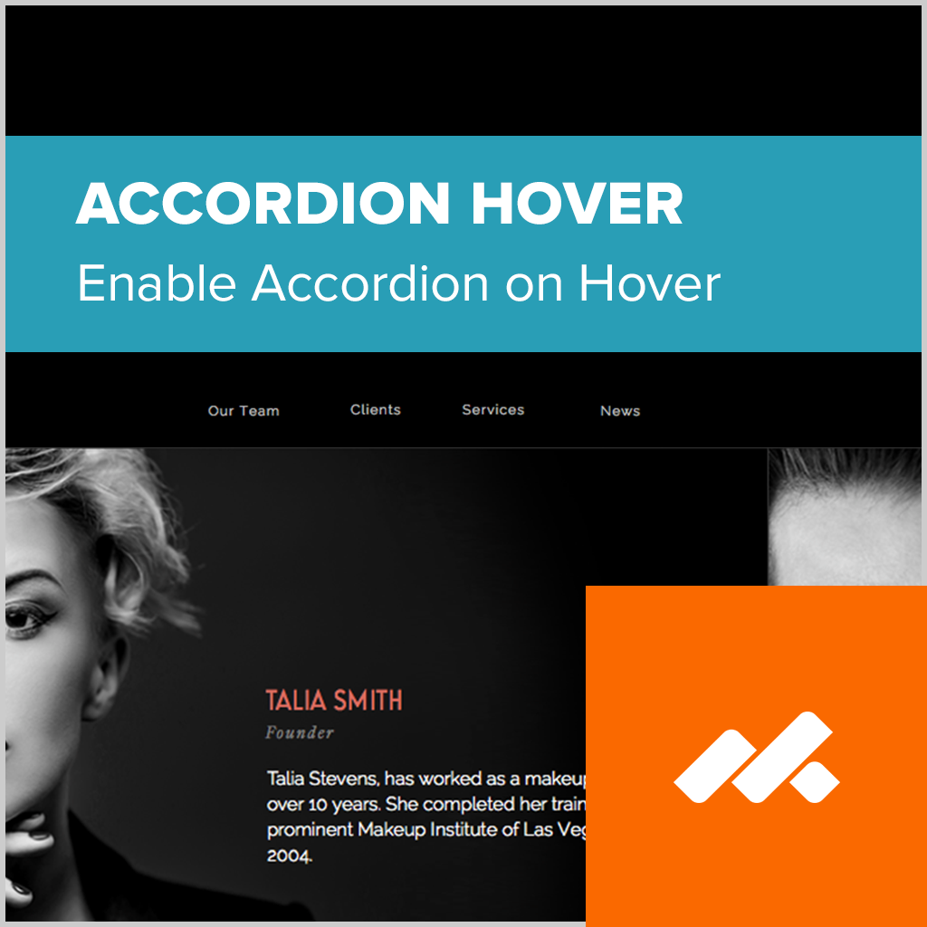 Accordion Hover Adobe Muse Widget