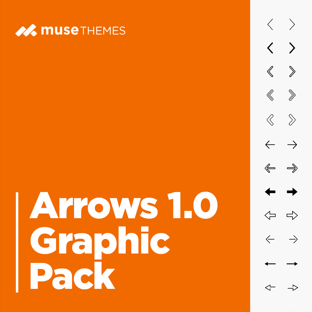 Arrows Graphic Pack Adobe Muse Widget