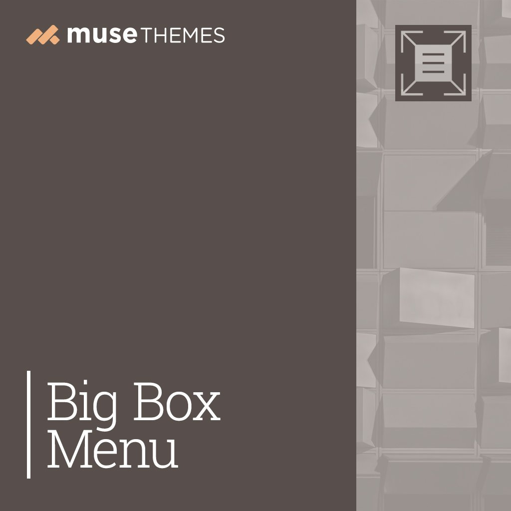 Big Box Menu Adobe Muse Widget