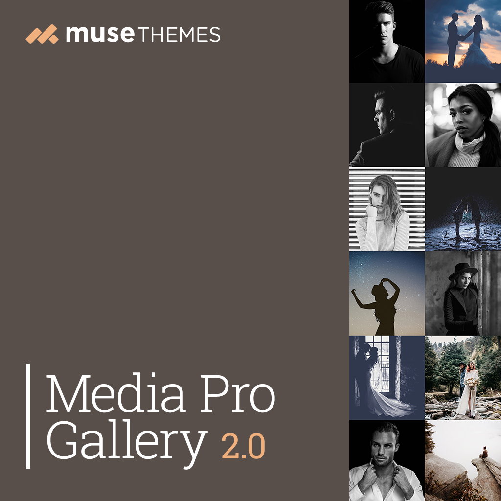 Media Pro Gallery 2.0 Adobe Muse Widget