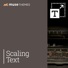 Scaling Text Adobe Muse Widget