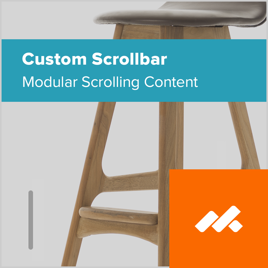 Custom Scrollbar Adobe Muse Widget