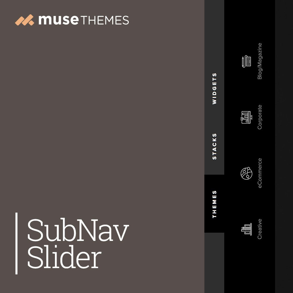 SubNav Slider Adobe Muse Widget
