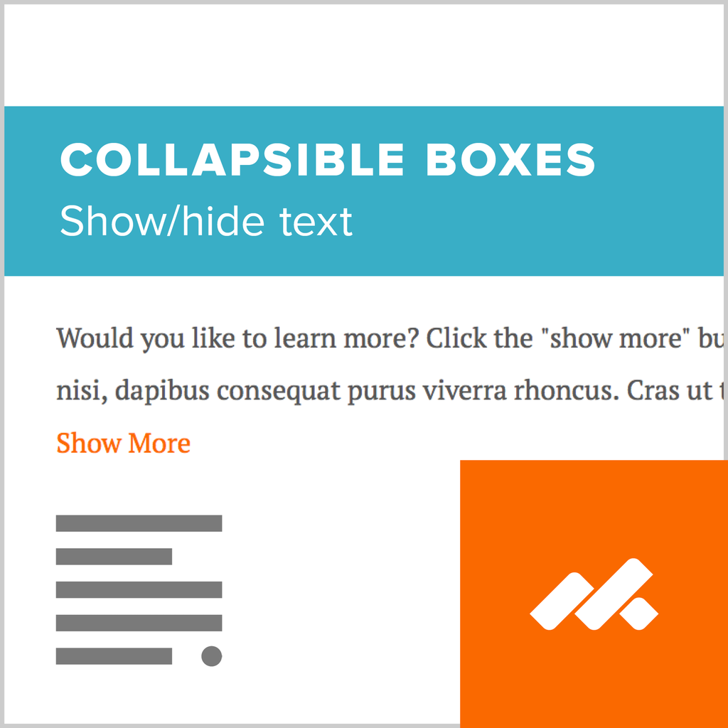 Collabsible Boxes Adobe Muse Widget