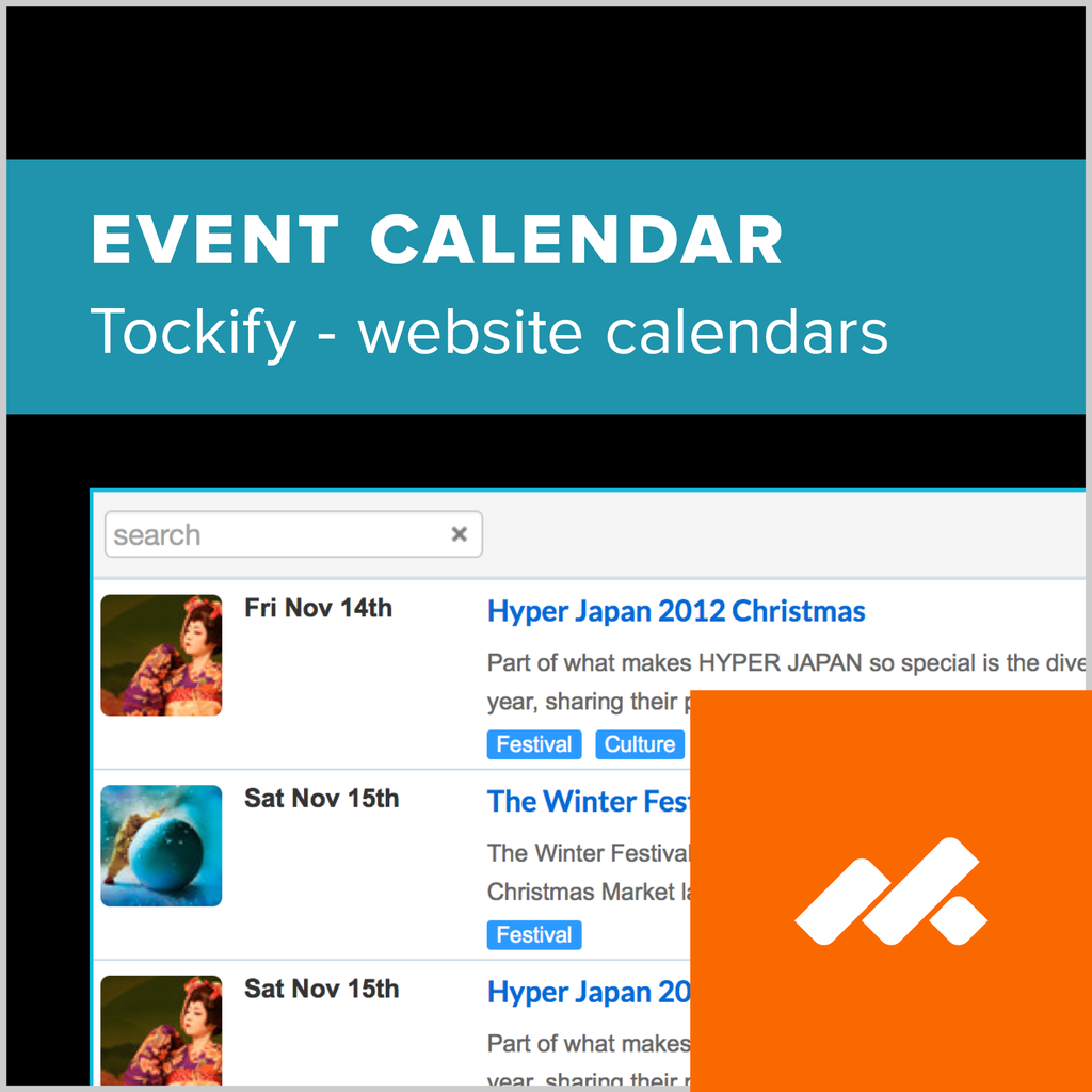 adobe muse tockify event calendar widget