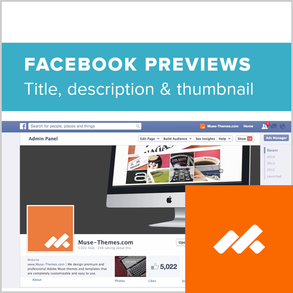 Facebook Previews Adobe Muse Widget