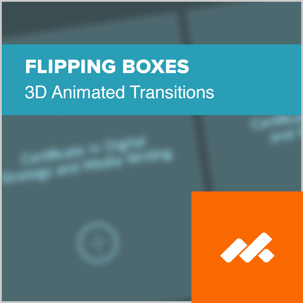Flipping Boxes Adobe Muse Widget
