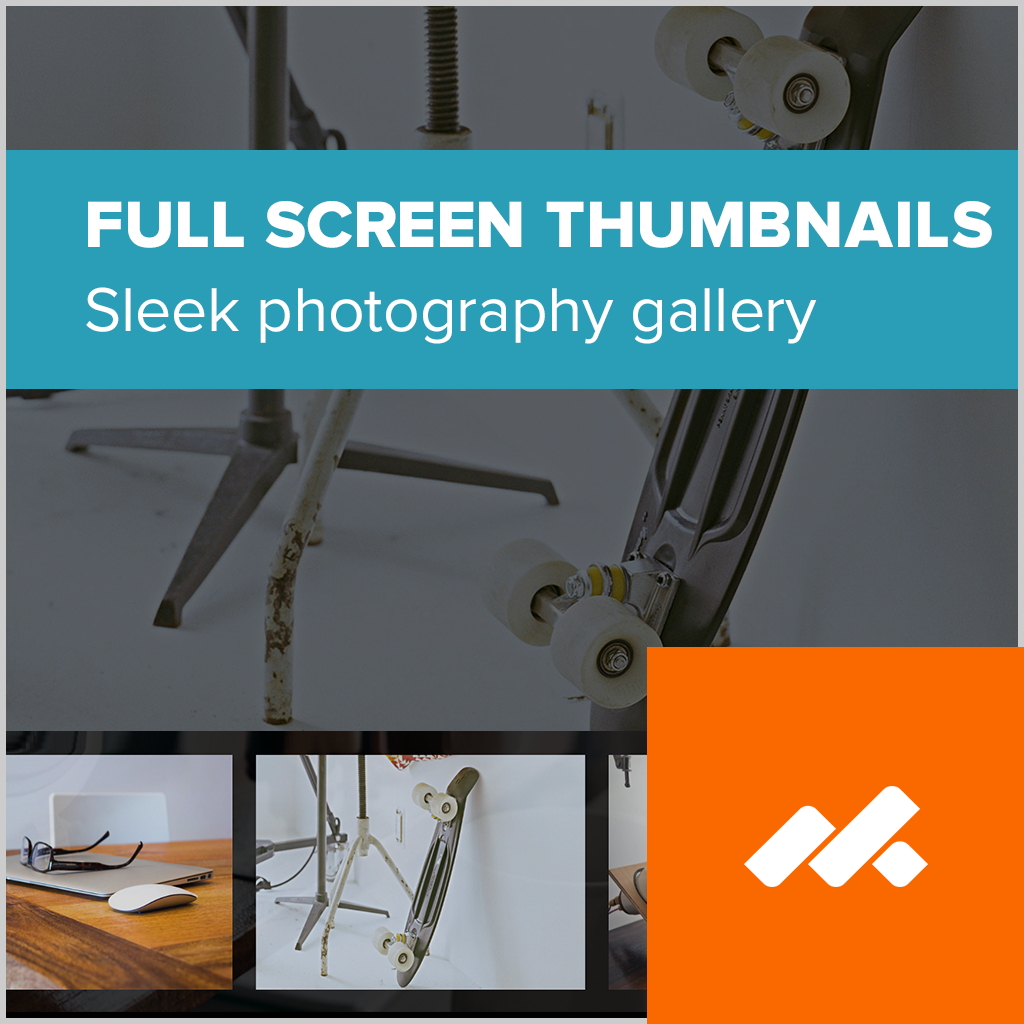 Fullscreen Thumbnails Adobe Muse Widget