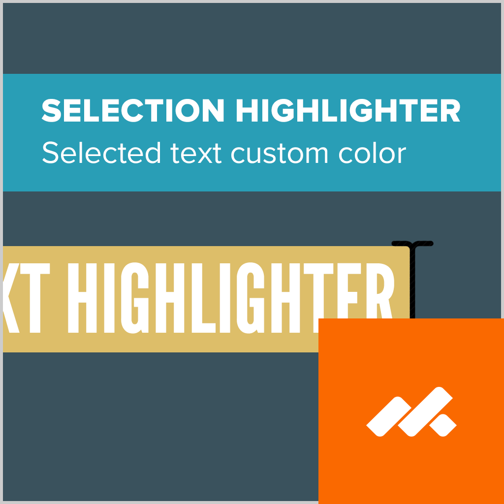 adobe muse text selection highlighter widget